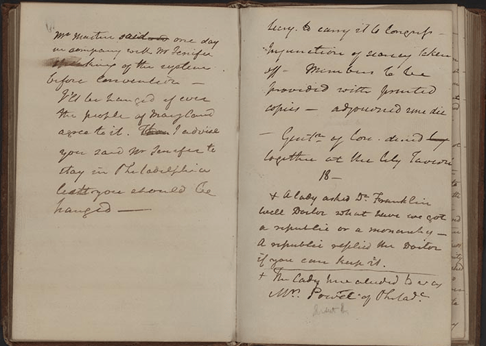 James McHenry's Journal