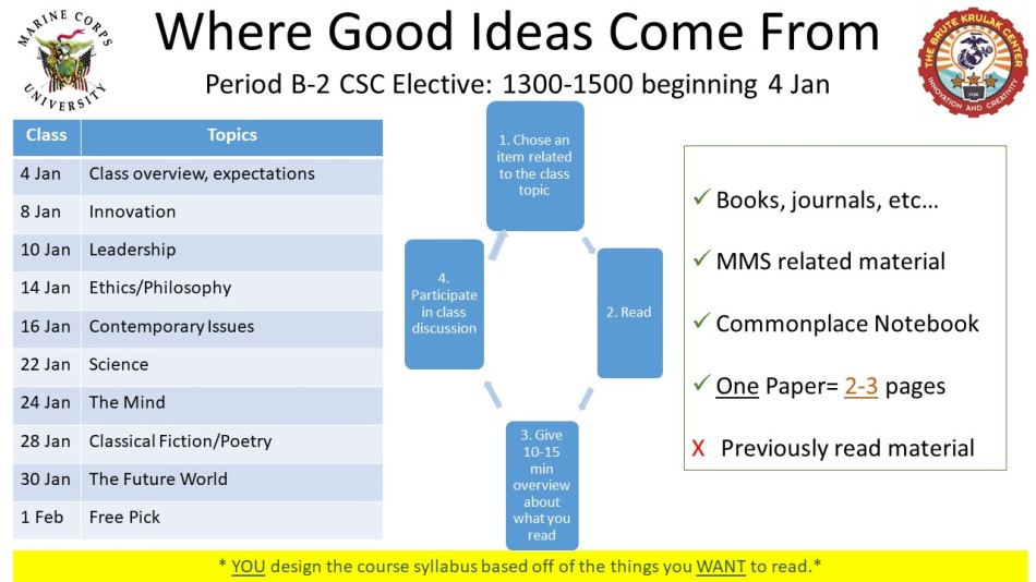 Military PME Where Good Ideas Come From